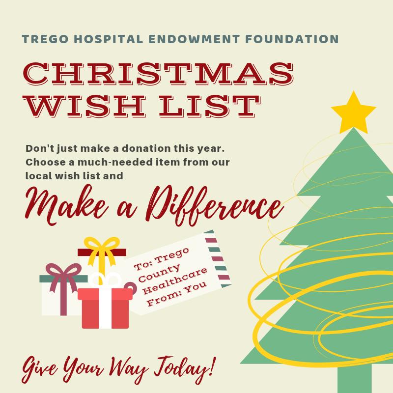Trego Hospital Endowment Foundation Christmas Wish List