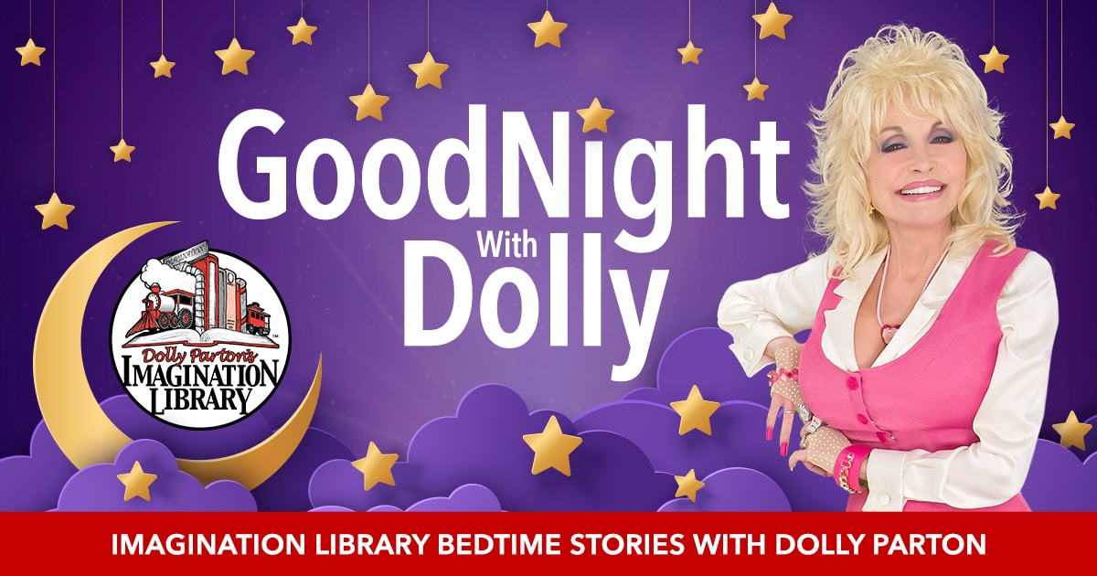 Good Night with Dolly Parton Imagination Liibrary cover image
